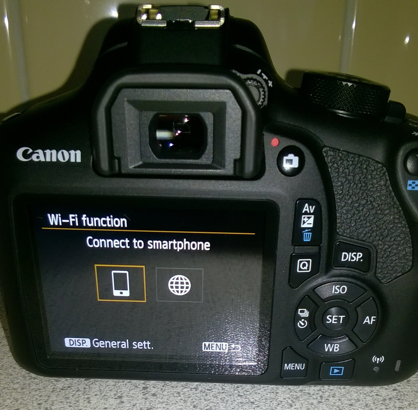 how to connect remote to canon rebel t6 1300d